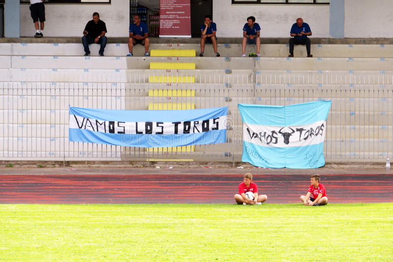 Argentinien-Flaggen stockfoto