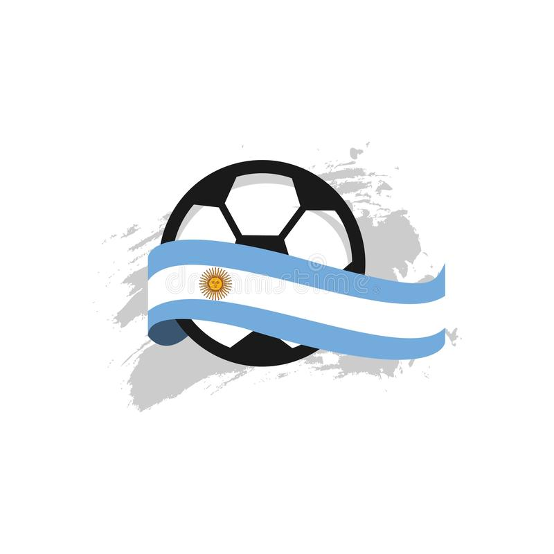 Argentinien-Fu?ball-Verein-Vektor-Schablonen-Entwurfs-Illustration vektor abbildung