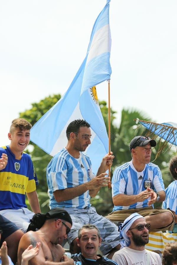 Argentinien-Fußballfane stockfotos