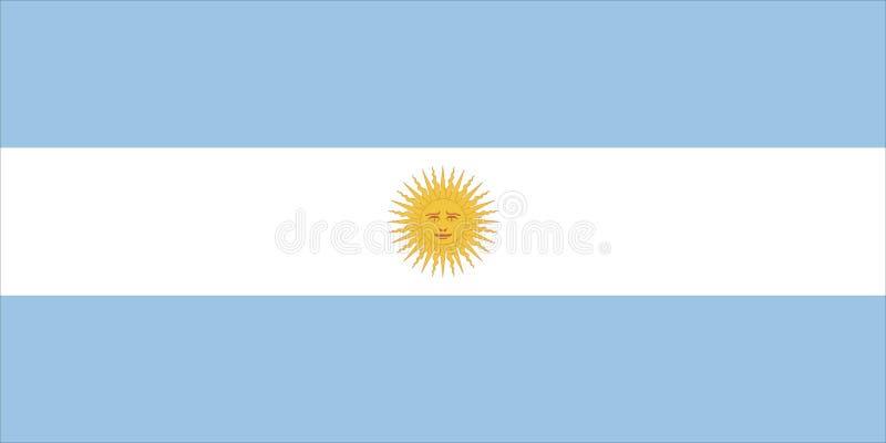 Argentinien-Markierungsfahne vektor abbildung