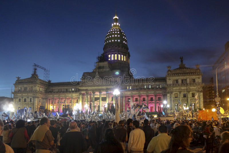 Argentinien-Nationalkongress stockbilder