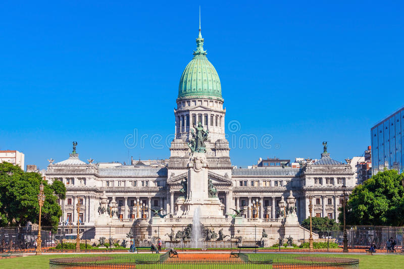 Argentinien-Nationalkongress-Palast stockbild