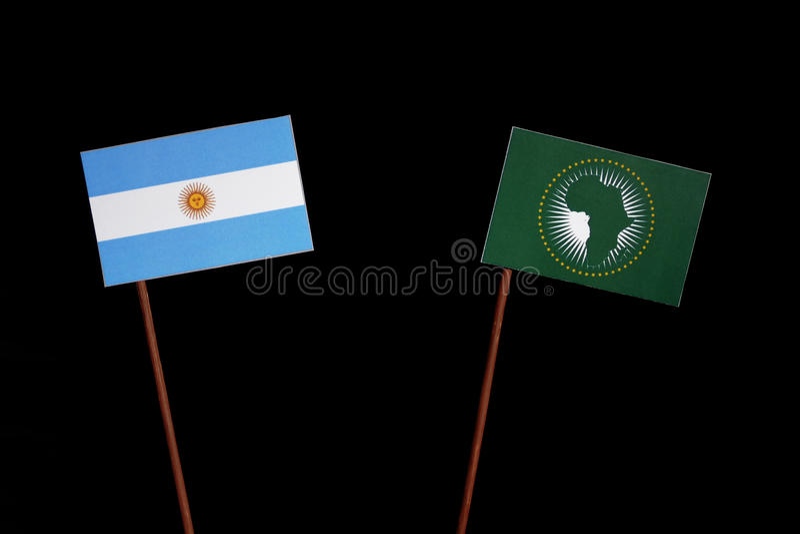 Download Argentinische Flagge Mit Der Flagge Der Afrikanischen Union Lokalisiert Auf Schwarzem Stockfoto - Bild von leerzeichen, kommunikation: 96932180