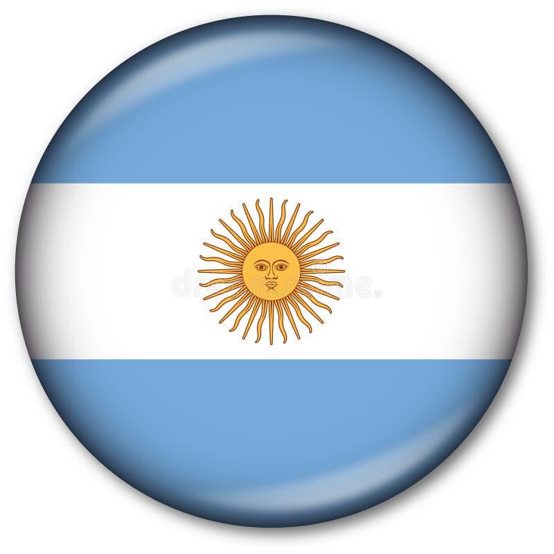 Argentinische Markierungsfahnen-Taste lizenzfreie abbildung
