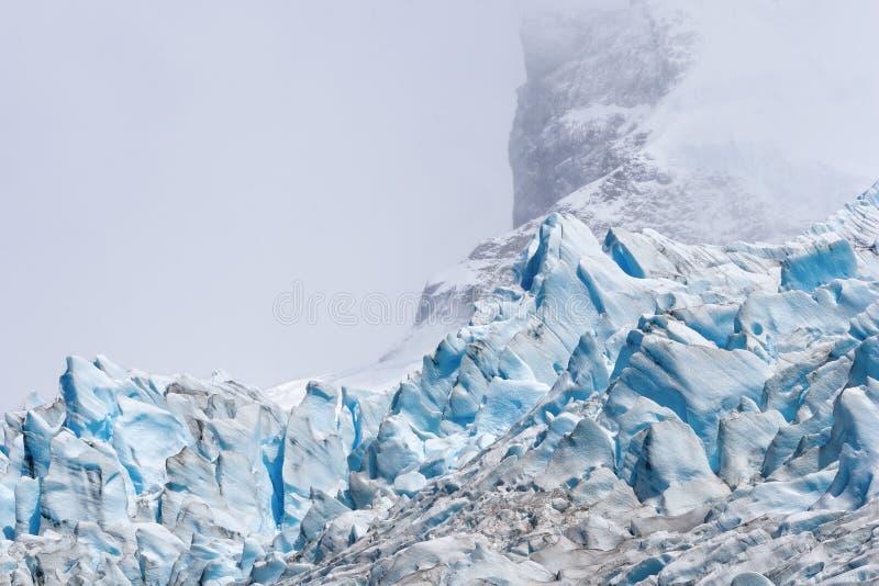 Argentino do lago do detalhe da geleira de Spegazzini, patagonia, Argentina imagens de stock