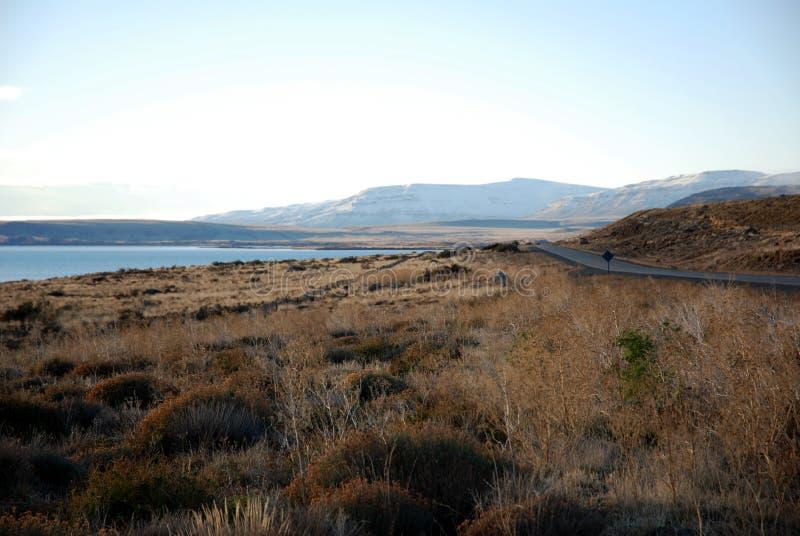 argentino lago patagonia droga zdjęcia stock