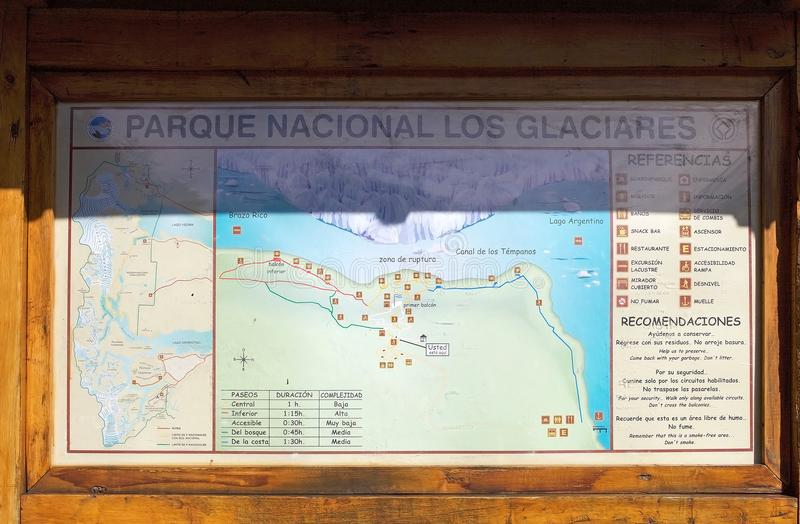 Argentino Lake e Perito Moreno Glacier traçam no Patagonia, Argentina imagem de stock royalty free