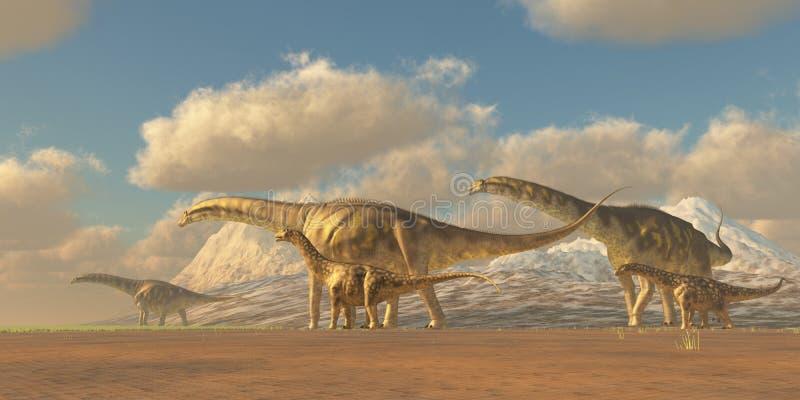 Argentinosaurus ilustração stock