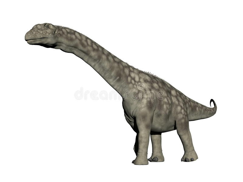 Argentinosaurusdinosaurier - 3D übertragen stock abbildung