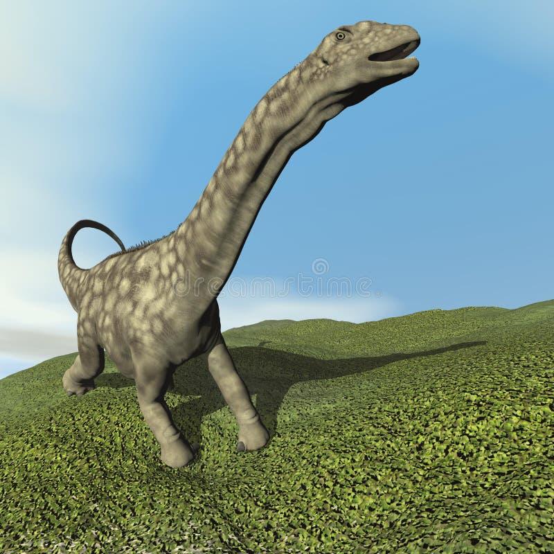 Argentinosaurusdinosaurier - 3D übertragen vektor abbildung