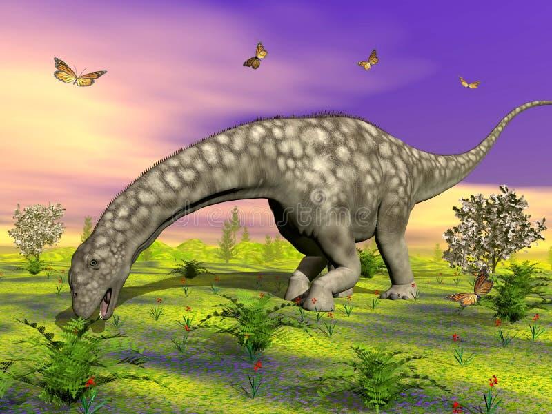 Argentinosaurusdinosaurieressen - 3D übertragen lizenzfreie abbildung