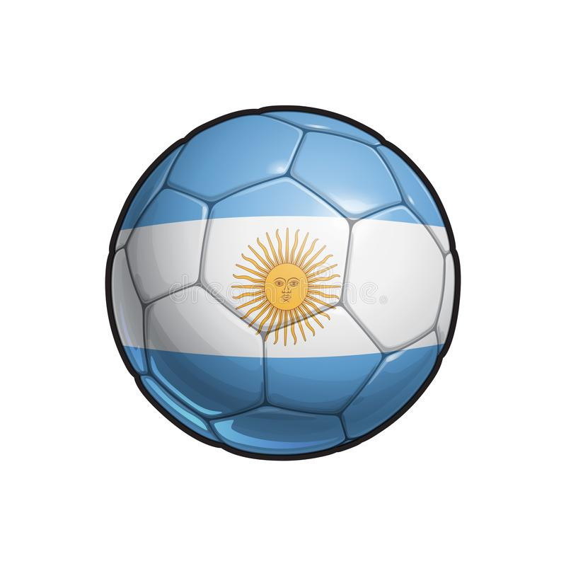 Argentinsk flaggafotboll - fotbollboll royaltyfri illustrationer