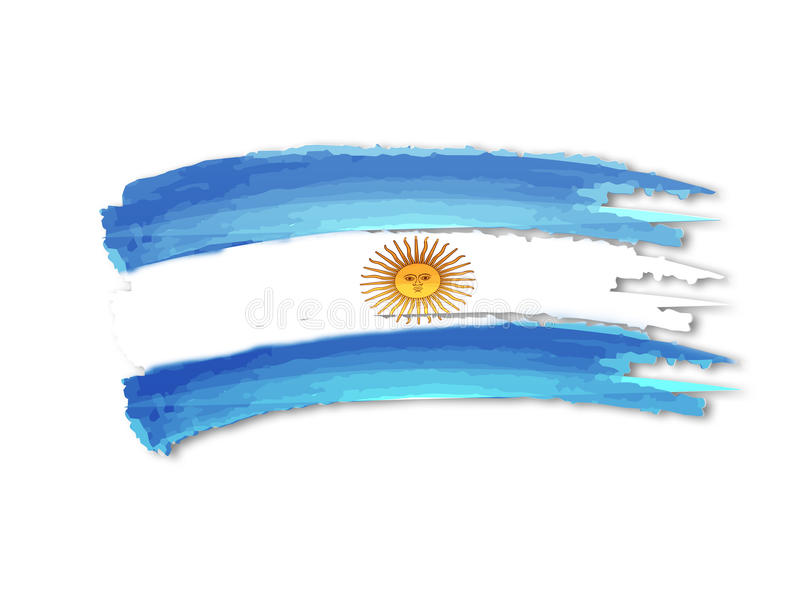 Argentinsk flaggateckning stock illustrationer