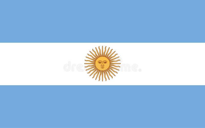 Argentinsk nationsflagga royaltyfri illustrationer