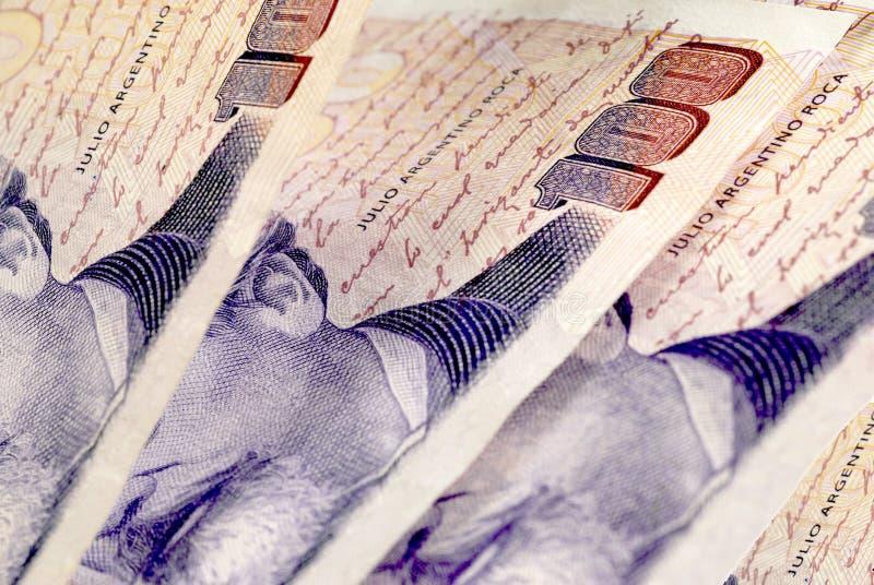 100 argentinska pesos arkivfoton