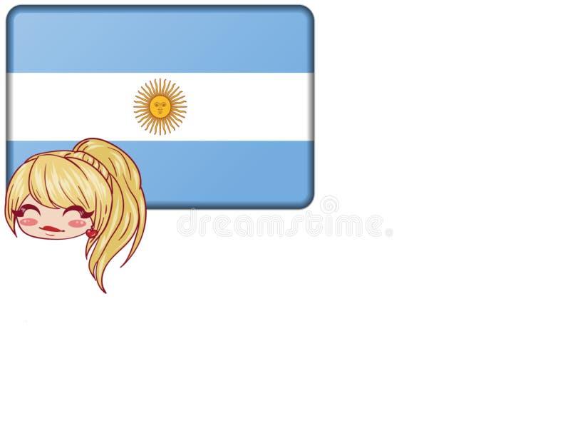 Argentinskt begrepp vektor illustrationer