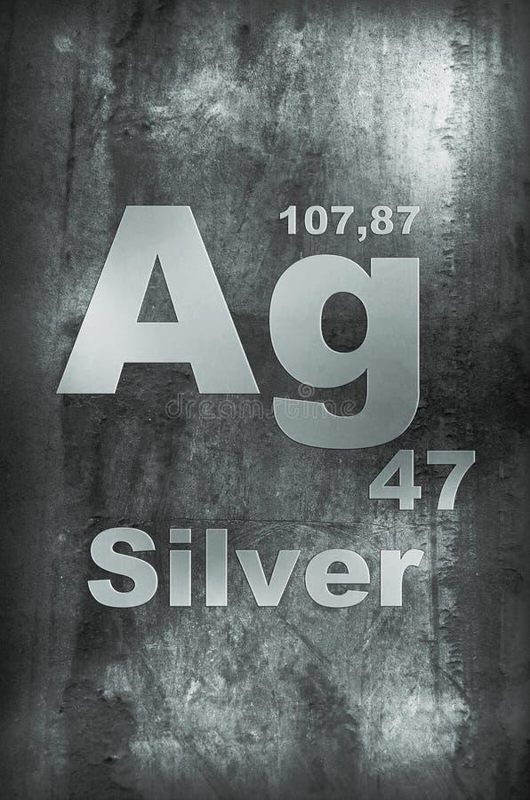 Argento (Argentum) fotografia stock libera da diritti