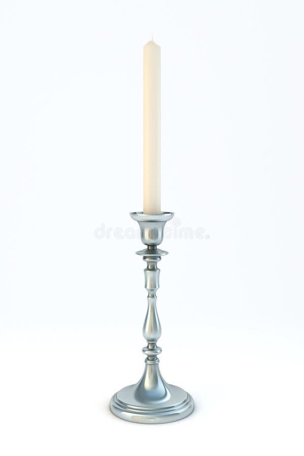 Argento del candelabro fotografie stock