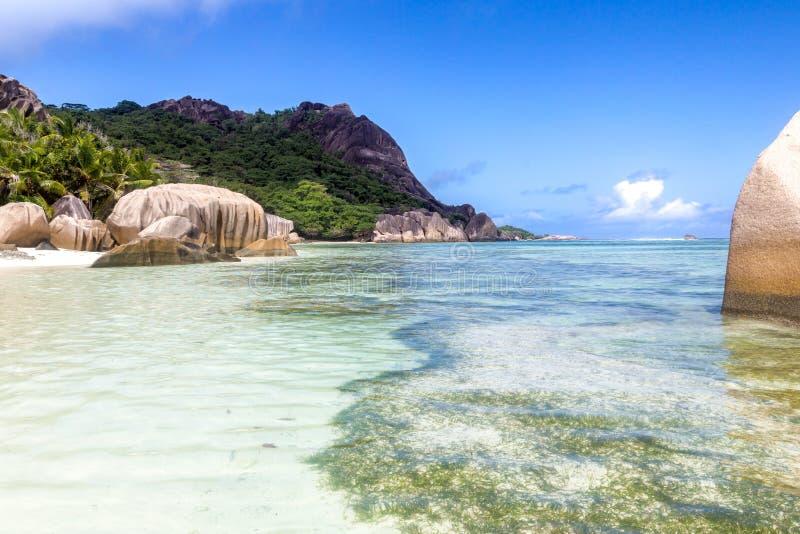 Argento del ` di fonte d di Anse, Seychelles immagini stock libere da diritti