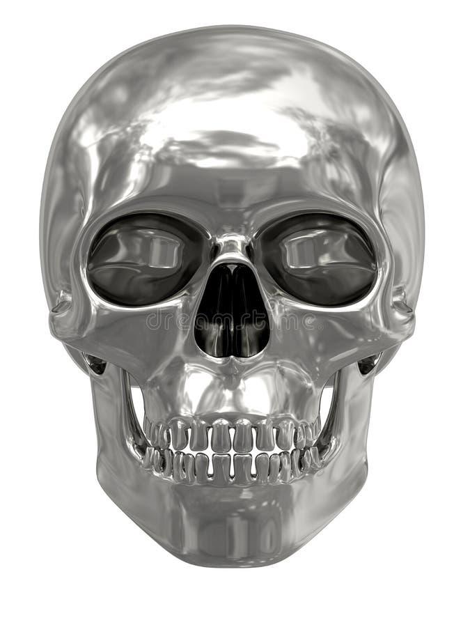 Argento o cranio del platino isolato su bianco illustrazione vettoriale