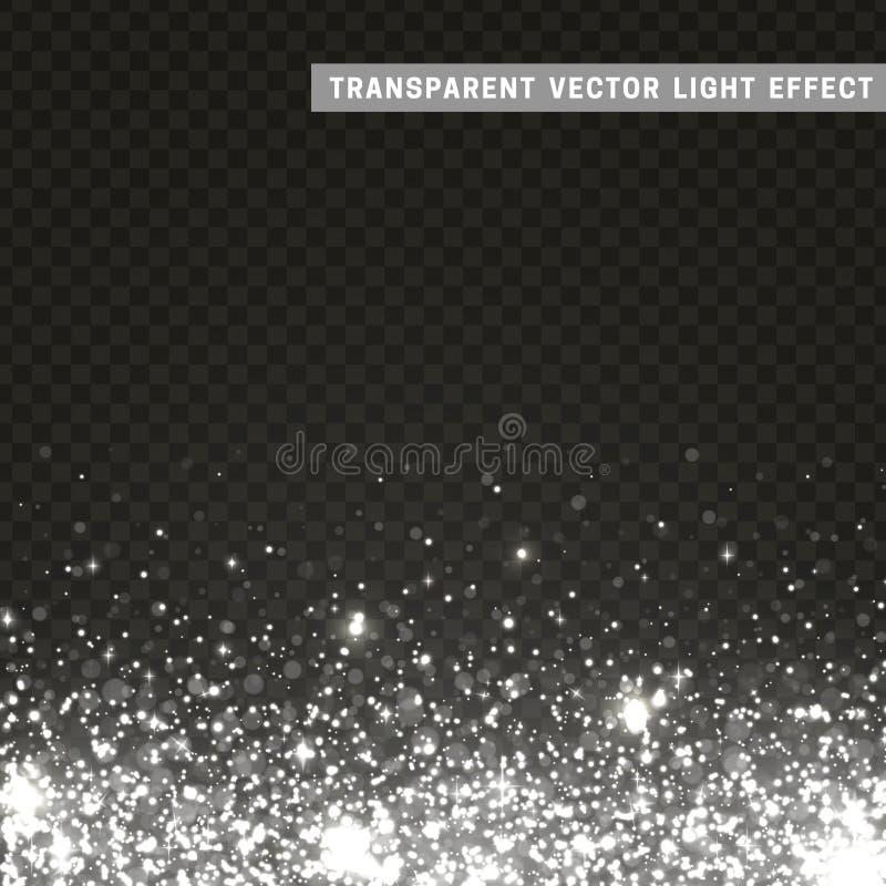 Argento trasparente di effetto della luce di vettore, grigio illustrazione di stock