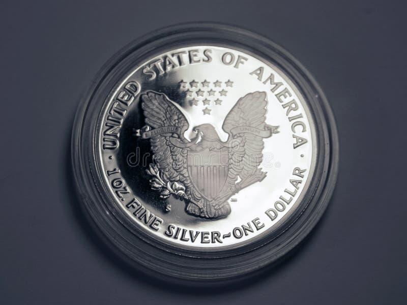 Argento Un Dollaro Immagini Stock Libere da Diritti