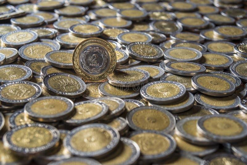 Argentyńczyk moneta fotografia stock