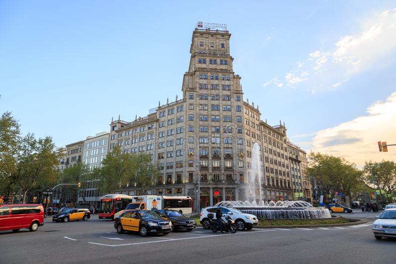 Argentyński konsulat w Barcelona, Hiszpania obrazy royalty free