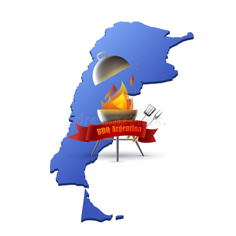 Argentyński mięsny grill ilustracji