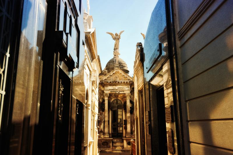 Argentyna, Buenos Aires, losu angeles Recoleta cmentarz zdjęcia stock