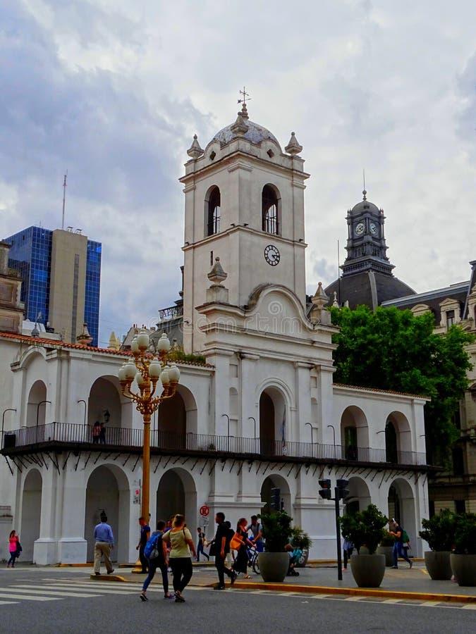 Argentyna, Buenos Aires, Narodowe Muzeum Historyczne Kabildo i Maja Rewolucja zdjęcia royalty free