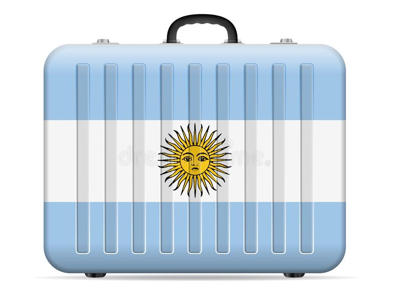 Argentyna flaga podróży walizka ilustracji