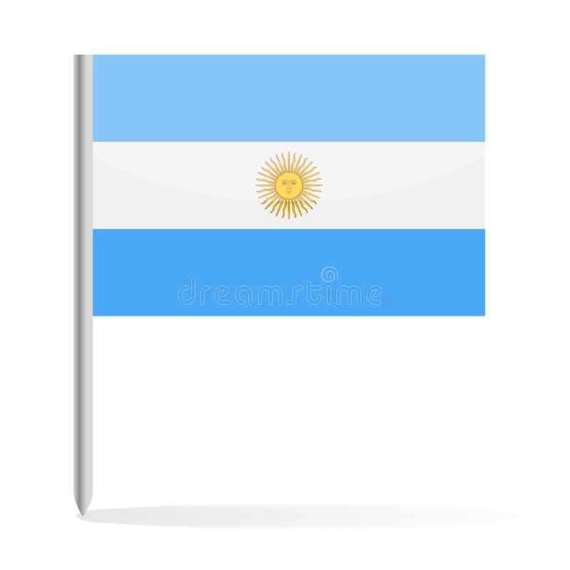 Argentyna flaga szpilki wektoru ikona royalty ilustracja
