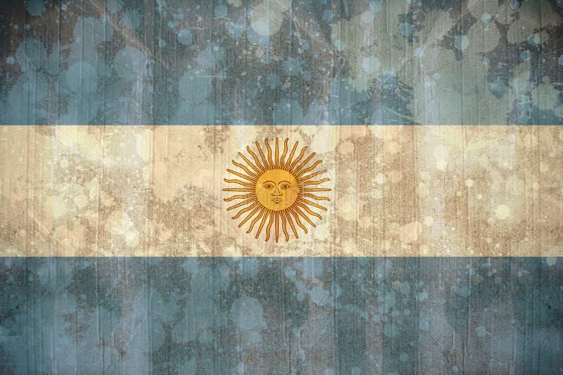 Argentyna flaga w grunge skutku ilustracja wektor