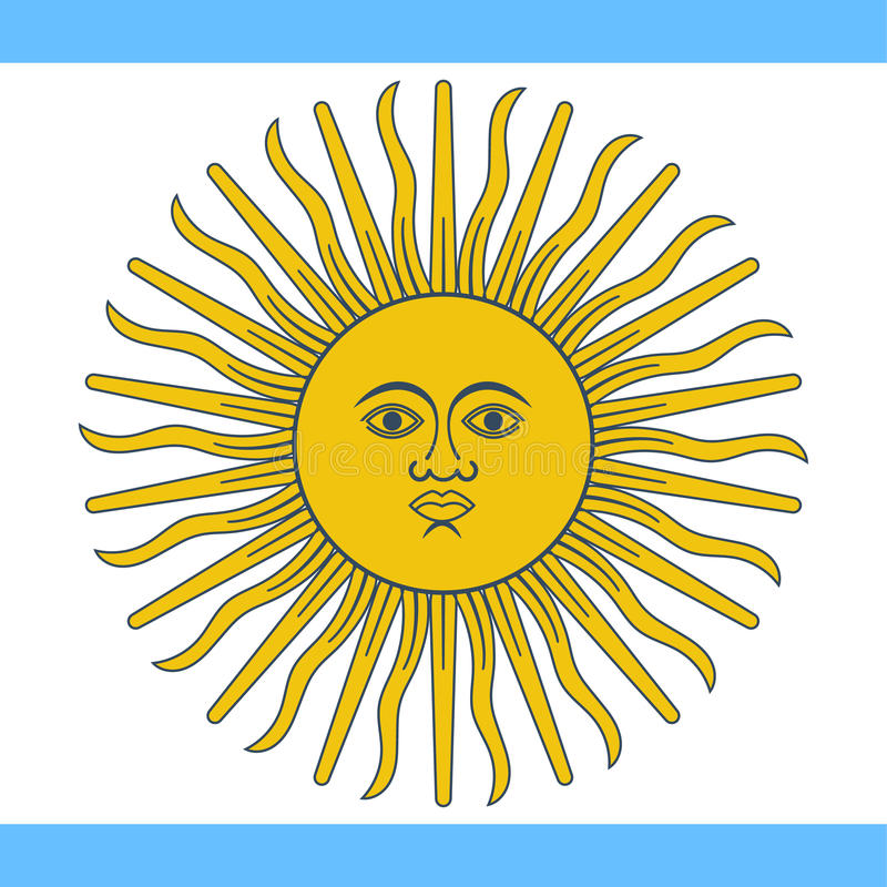 Argentyna flaga wektor ilustracja wektor