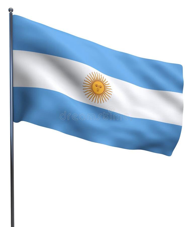 Argentyna flaga wizerunek ilustracji