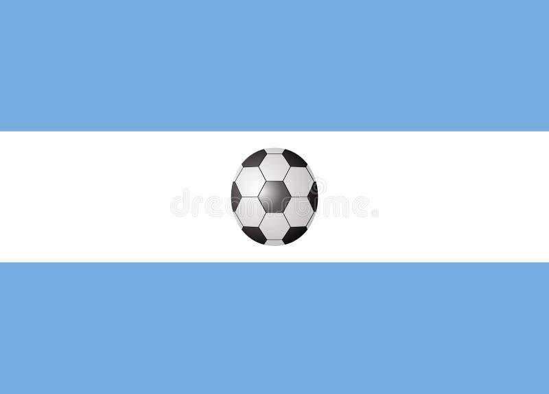 Argentyna flaga z piłki nożnej piłką obraz royalty free