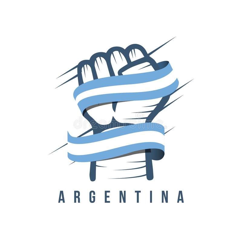 Argentyna flagi i ręki szablonu projekta Wektorowa ilustracja ilustracja wektor