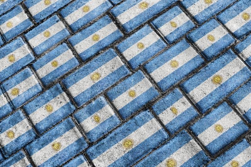 Argentyna Grunge Chorągwiany Miastowy wzór royalty ilustracja