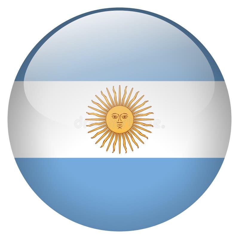 Argentyna guzik royalty ilustracja