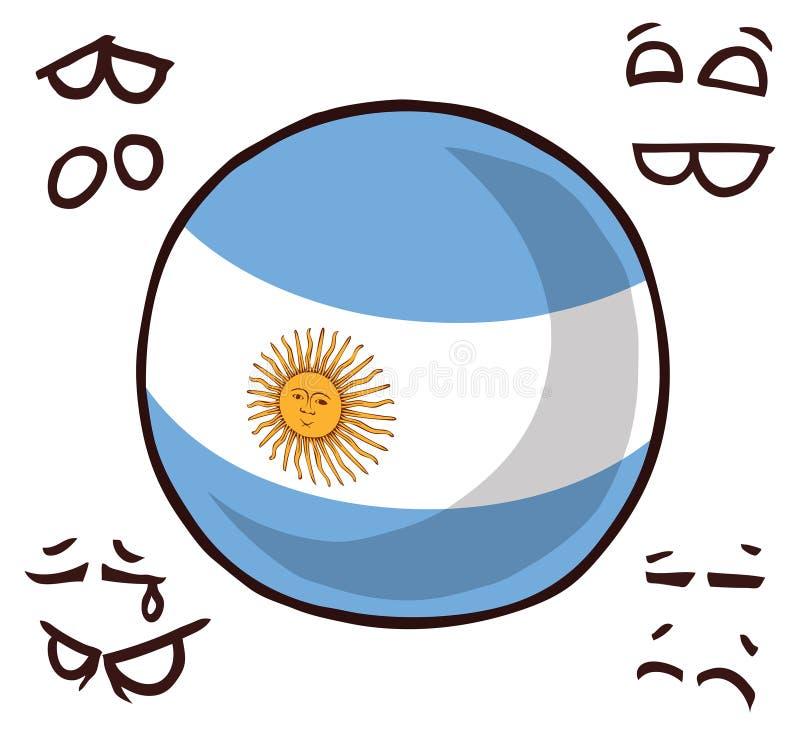 Argentyna kraju piłka ilustracja wektor