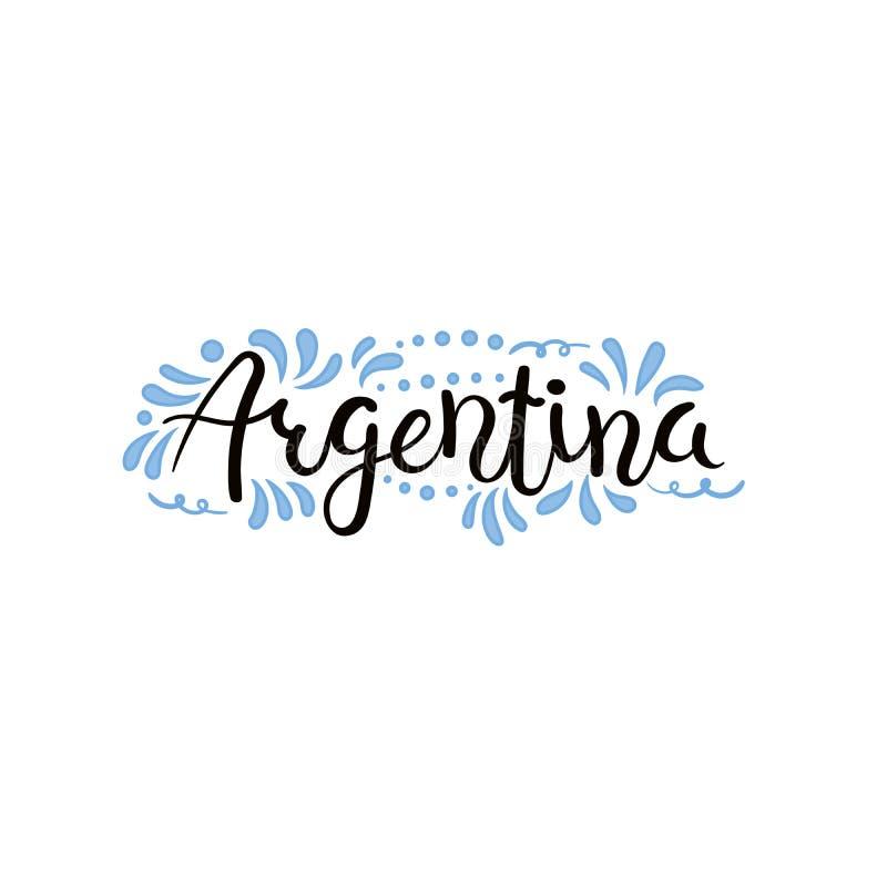 Argentyna literowania kaligraficzna wycena ilustracja wektor