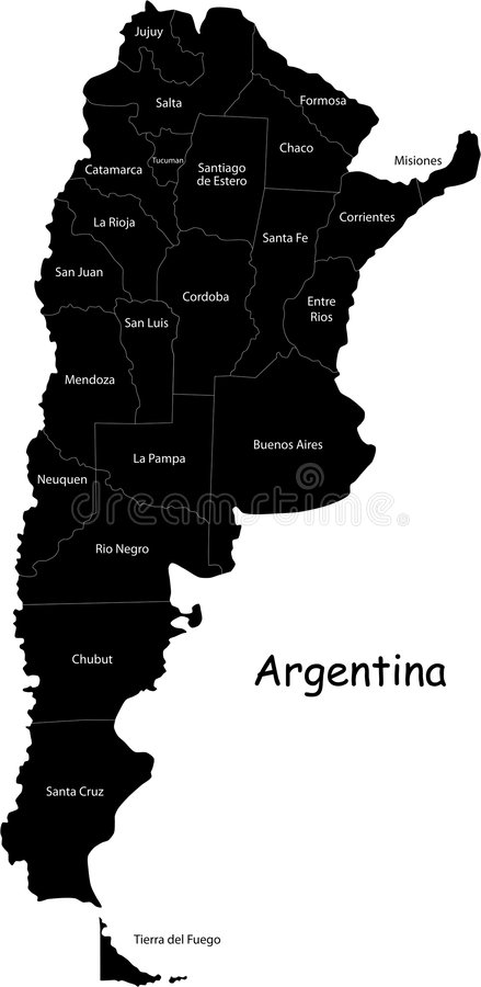 Argentyna mapa royalty ilustracja