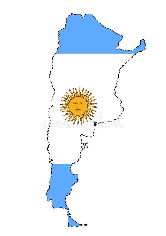 Argentyna Mapa Argentyna wektoru ilustracja ilustracja wektor