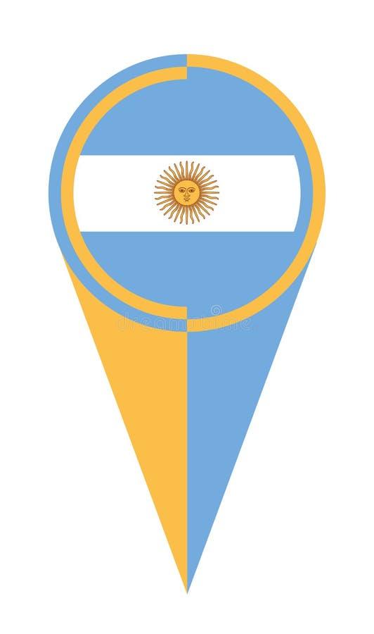 Argentyna mapy pointeru lokacji flaga ilustracji