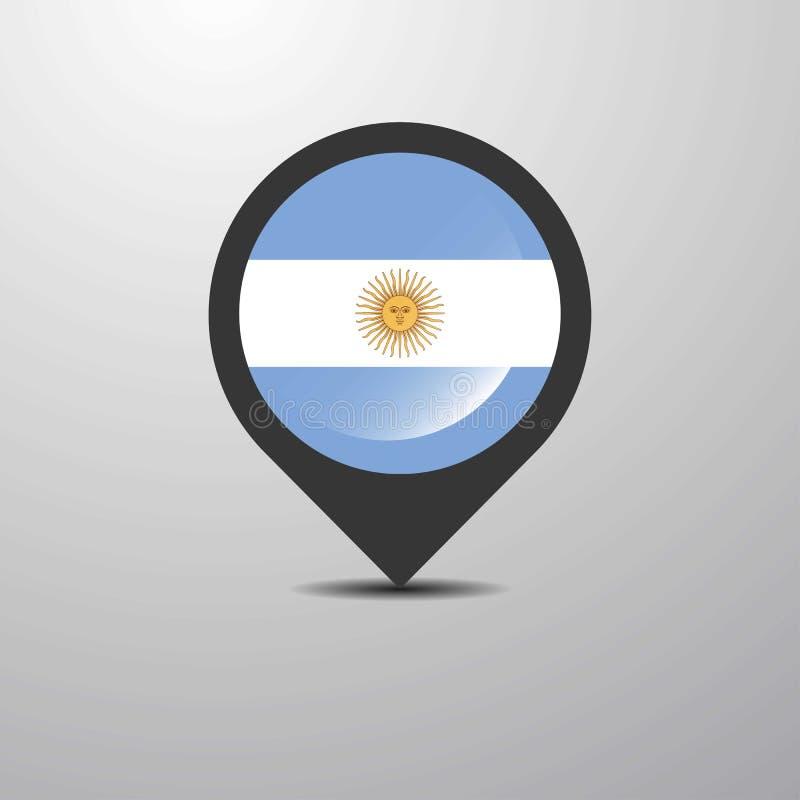 Argentyna mapy szpilka ilustracji