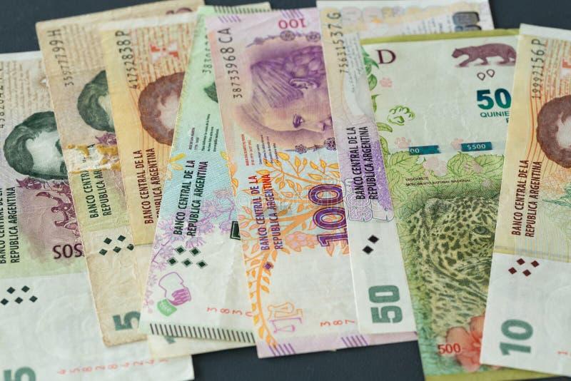 Argentyna pieniądze, peso zdjęcia royalty free