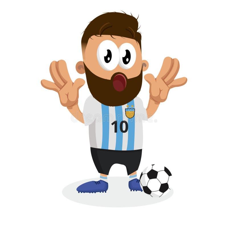 Argentyna tła i maskotki niespodzianki poza royalty ilustracja