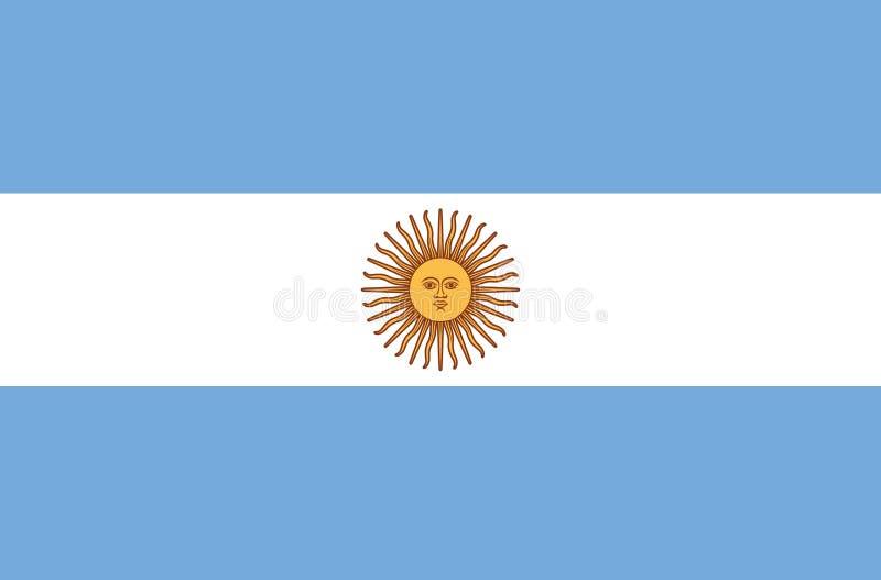 Argentyna zaznacza prawidłowo, urzędników kolory i proporcja Obywatela Argentyna flaga również zwrócić corel ilustracji wektora E ilustracji