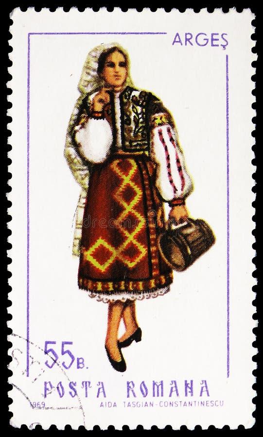 Arges (θηλυκό), λαϊκά κοστούμια serie, circa 1969 στοκ εικόνες